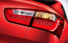Kia Rio 4-door Exterior LED rear combination lamps