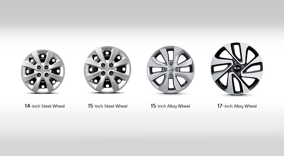 Kia Rio 4-door Exterior Wheels