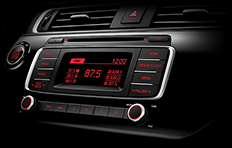 Kia Rio 4-door Interior Radio CDP MP3